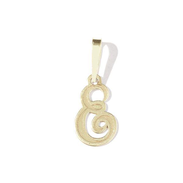Zlatý přívěs písmeno E