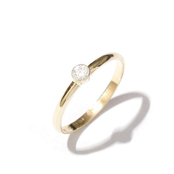 Zlatý prsten se zirkonem vel. 53