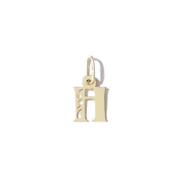 Zlatý přívěs písmeno H