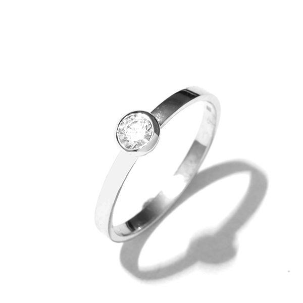Zlatý prsten se zirkonem vel. 54