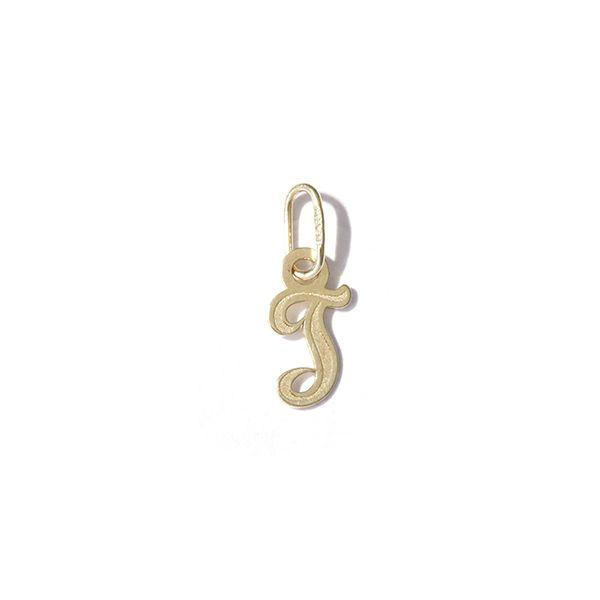 Zlatý přívěs písmeno T