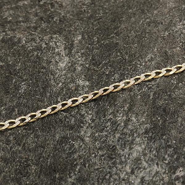 Zlatý náramek 18 cm