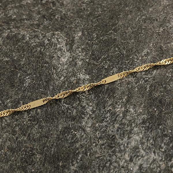 Zlatý náramek 15,5 cm