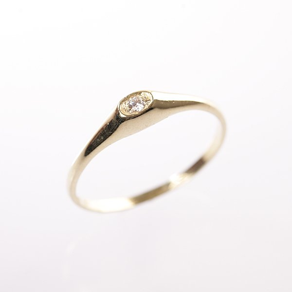 Zlatý prsten se zirkonem vel. 57