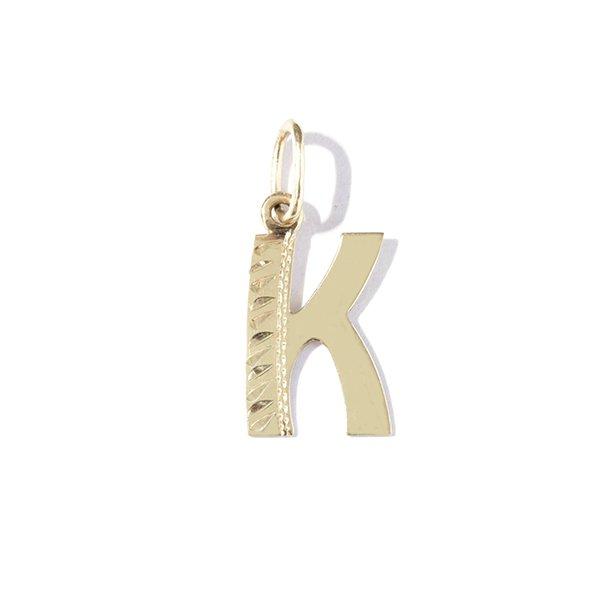Zlatý přívěs písmeno K
