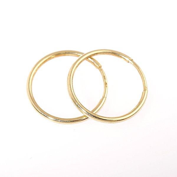 Zlaté náušnice kruhy pr. 18 mm