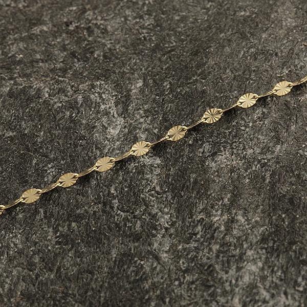 Zlatý náramek 19 cm