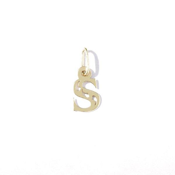 Zlatý přívěs písmeno S