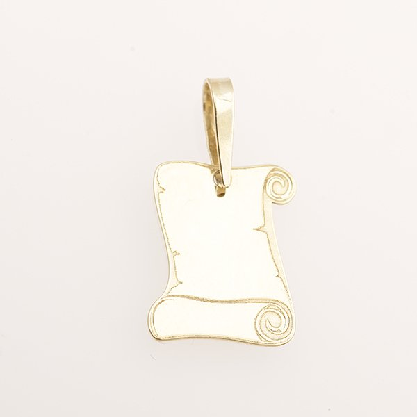 Zlatý přívěs pergamen
