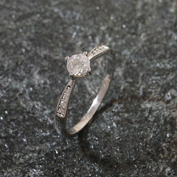 Zlatý prsten se zirkony vel. 57