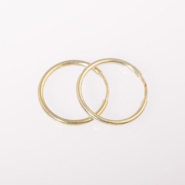 Zlaté náušnice kruhy pr. 15 mm