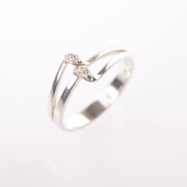 Stříbrný prsten vel. 49