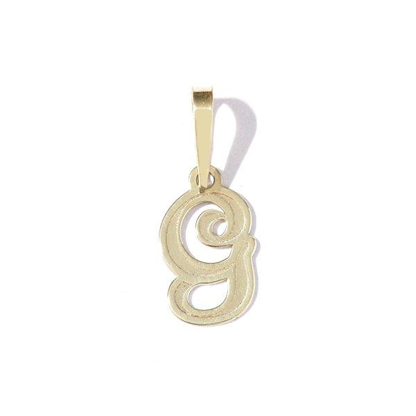 Zlatý přívěs písmeno G