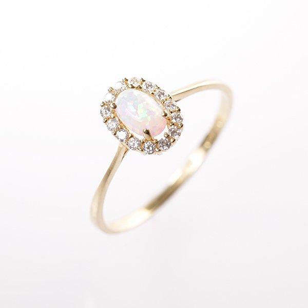 Zlatý prsten s opálem vel. 58