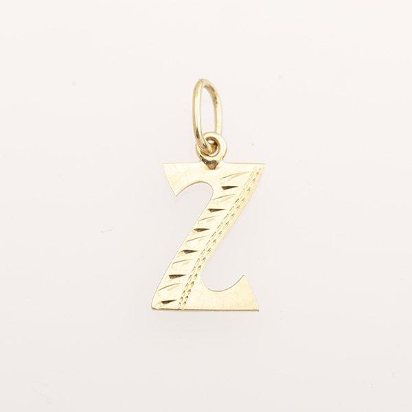 Zlatý přívěs písmeno Z