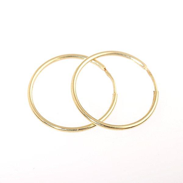 Zlaté náušnice kruhy pr.18 mm