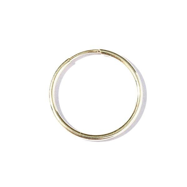 Zlatá kruhová náušnice (1 ks)