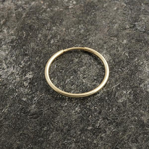 Zlatá náušnice kruh pr. 17 mm