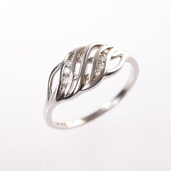 Zlatý prsten se zirkony vel. 58