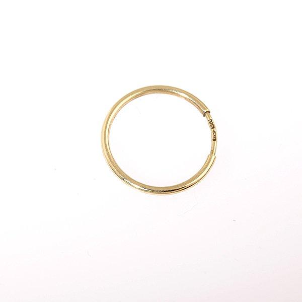 Zlatá náušnice kruh pr. 15 mm