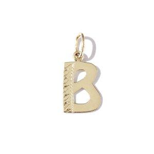 Zlatý přívěs písmeno B