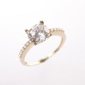 Zlatý prsten se zirkony vel. 53