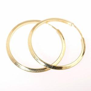 Zlaté náušnice kruhy pr. 25 mm