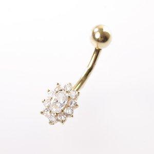 Zlatý piercing s kamínky