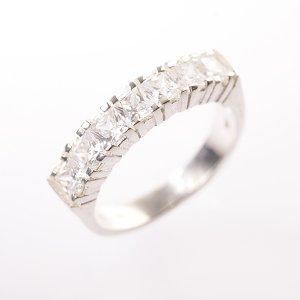 Stříbrný prsten se zirkony vel. 60