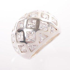 Stříbrný prsten se zirkony vel. 55