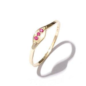 Zlatý prsten s rubíny vel. 58